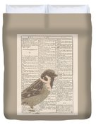 Abstract Sparrow On Dictionary Duvet Cover
