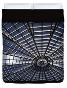 Abstract Spiderweb View Of A Central Tower Skylight At The World Duvet Cover