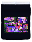 Abstract Sports Montage Duvet Cover