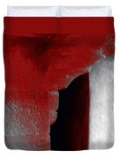 Abstract Square Red Black White Grey Textured Window Alcove 2a Duvet Cover