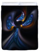 Abstract Stained Glass Angel Duvet Cover