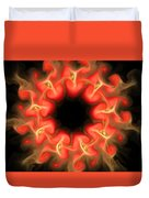 Orange Sun 3 Duvet Cover