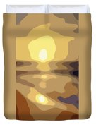 Abstract Sunset 34 Duvet Cover