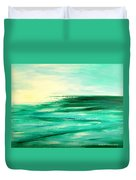 Abstract Sunset In Blue And Green Duvet Cover