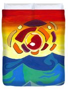 Abstract Sunset Duvet Cover