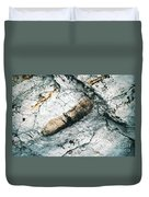 Abstract Surface Limestone With Rocks Duvet Cover
