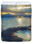 Abstract Tahoe Duvet Cover