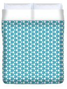 Abstract Turquoise Pattern 1 Duvet Cover