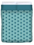 Abstract Turquoise Pattern 2 Duvet Cover
