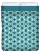Abstract Turquoise Pattern 3 Duvet Cover