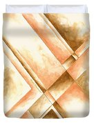Abstract Unique Original Painting Contemporary Art Champagne Dreams I By Madart Duvet Cover