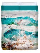 Abstract Waves Lbi Duvet Cover