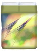 Abstract Weeds Yellow Duvet Cover