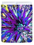 Abstract Wildflower 9 Duvet Cover