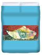 Abstract With A Boat Duvet Cover