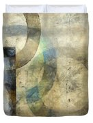 Abstract With Circles Duvet Cover