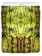 Abstract Yellow Trees Duvet Cover