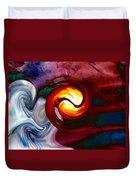 Abstract Yin Yang Lava Duvet Cover