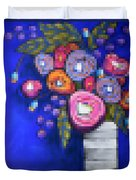 Abstracted Flowers - 2 Duvet Cover