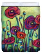 Abstracted Poppies Duvet Cover
