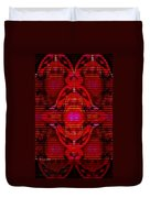Abstracticalia In Red For Edith And Costa Halkiadakis V  A Duvet Cover