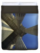 Abstrat View Of Columns At Lincoln Duvet Cover