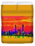 Abu Dhabi Skyline - Da Duvet Cover