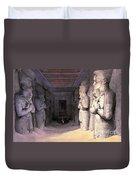 Abu Simbel Temple, 1838 Duvet Cover