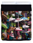 Abundance Of Shoes Duvet Cover