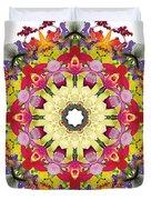 Abundantly Colorful Orchid Mandala Duvet Cover