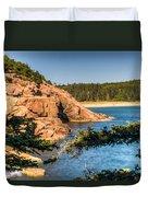 Acadia National Park Rocky Shoreline Duvet Cover