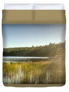 Acadia National Park Shoreline In Evening Sun Duvet Cover