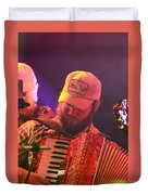 Accordion Player Duvet Cover