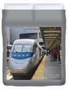 Acela Train 14bos072 Duvet Cover