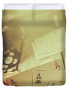 Aces Up The Sleeve Duvet Cover