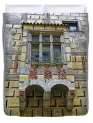Achitecture Of The Little Castle Within Cesky Krumlov In The Czech Republic Duvet Cover