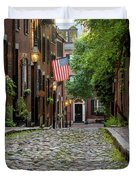 Acorn St. Boston Ma. Duvet Cover
