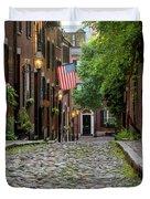 Acorn St. Boston Ma. Duvet Cover