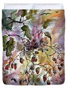 Acorns Autumn Expression Duvet Cover