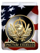Acquisition Corps - A A C Regimental Insignia U. S. Flag  Duvet Cover