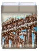 Acropolis I Duvet Cover