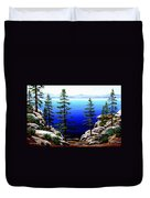 Across Lake Tahoe Duvet Cover