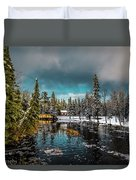 Across The Dam Duvet Cover