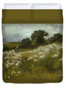 Across The Fields Duvet Cover by John Mallord Bromley