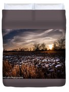 Across The Frozen Fields  Duvet Cover
