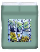 Across The Lake Duvet Cover