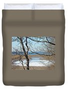 Across The Marsh To Woodneck Beach - Cape Cod Duvet Cover