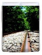 Across The Tracks Duvet Cover