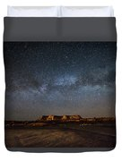Across The Universe - Milky Way Galaxy Over Mesa In Arizona Duvet Cover