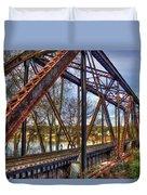 Across The Water 6th Street Rr Bridge Augusta Georgia Art Duvet Cover